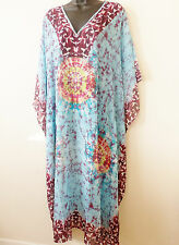 Embellished Kaftan dress  tunic sheer light material tie dye print  free size