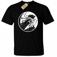 Surfing Skeleton T-Shirt mens surfer skull board beach wave holiday