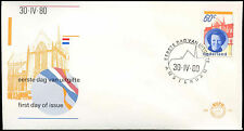 Netherlands 1980, 60c Queen Beatrix Installation FDC First Day Cover #C27697