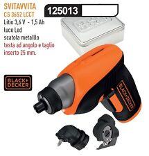 Black & decker svitavvita avvitatore a batteria b+d litio cs 3652 lcct