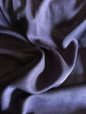 W-922222  Exquisite Italian 100% Virgin Wool Silk in Viola Purple Per Yard