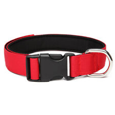 DOG COLLAR NYLON STRONG ADJUSTABLE RED BLUE BLACK PINK PUPPY/ADULT