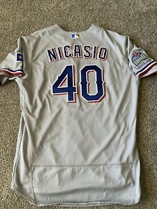 Juan Nicasio Inaugural Patch Nike Texas Rangers Game Issued Jersey 2020