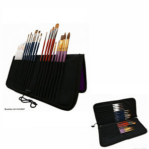 New Mont Marte Zippered Brush Wallet Paint Brushes Storage Wallet Easel Style