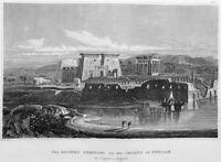 Egypt, NILE RIVER PHILAE AGILKIA ISLAND TEMPLE ISIS ~ 1836 Art Print Engraving