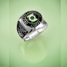Solid Sterling Silver Green Lantern Corps Ring