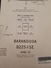 MAP- BARANDUDA  8225-1 SE  1:25,000