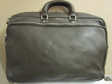 """Zegna Olive Green Leather Briefcase. 17"""" x 12"""" x 5 1/2"""" Retail: 2700"""