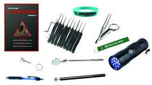 Geocaching Anfänger Set Starter beginner uv pinzette UV Lampe Locpicking Set NEU