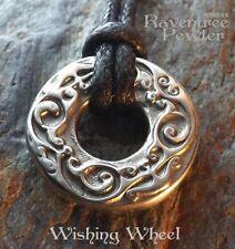 Wishing Wheel - Pewter Pendant - Dreams and Wishes Spiritual Jewelry