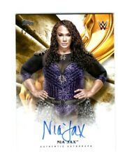 WWE Nia Jax 2019 Topps Undisputed Gold On Card Autograph SN 3 of 10