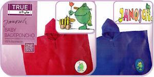Kinder Baby Badeponcho Poncho Kinderponcho Badetuch JANOSCH mit Kapuze Handtuch