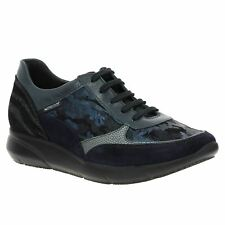 Mephisto Diane Navy Womens Low Top Casual Leather Shoes