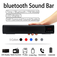 Wireless Bluetooth Sound Bar Speaker System TV Home Theater Subwoofer Soundbar