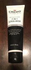 Cremo Detoxifying 2-in-1 Scrub and Mask Charcoal - 4 fl oz (118 ml)