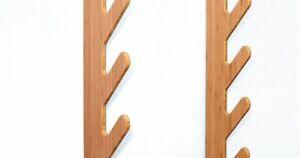 BLK Snowboard Ski Halterung Wandhalterung aus Bambus Holz für 4 Teile + Stiefel