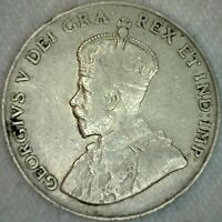1926 Canada 5c Nickel Coin Five Cents Canadian VG Very Good K31