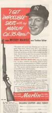 1953 Vintage ad MIckey Mantle Marlin Rifles New York Yankees  Cabin Art