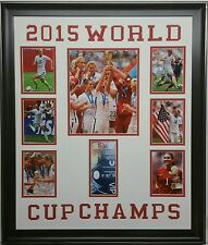 2015 USA Women's Soccer World Cup Champions Framed 8 Photo Collage Morgan Solo