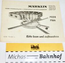 7028 7186 Manual de Instrucciones Märklin 68 702 TN 0664 Ru H0 Å