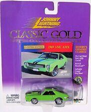 JOHNNY LIGHTNING R7 CLASSIC GOLD 1969 AMC AMX Rubber Tires