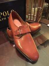 Ralph Lauren Portsmouth Leather Mens Single Strap Dress Shoes Sz 9.5 New In Box