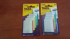 Post-It 3M Tabs 24 pack Lot of 2 - 2 x 1.5 in - Writable Durable Reposition NEW!