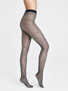 WOLFORD Net Reese Floral Lace Tights Size- L Seamless Panty Section AW 2020/21