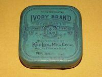 VINTAGE KEE LOX IVORY BRAND TYPEWRITER RIBBON TIN BOX