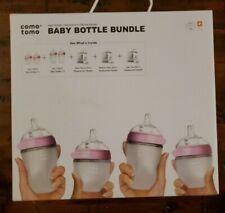 Comotomo Baby Bottle Bundle Gift Set, Pink