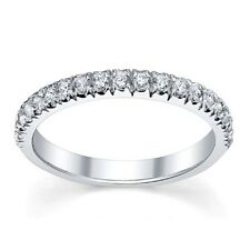 Diamond Full Eternity Ring Micro Pave Set in White Gold - 1/3 Carat Diamonds