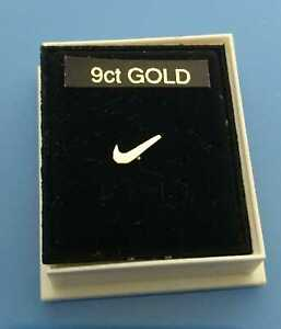9ct gold Nike Swoosh baby nose/ear stud for left hand side