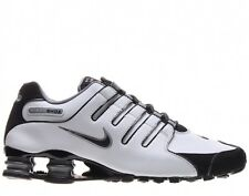 Nike Shox NZ Shoe Mens size 8.5 378341-101 White Black Cool Gray