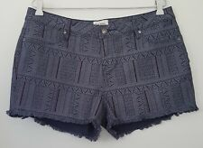 LEE COOPER Womens Size 14 Grey Patterned Shorts