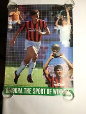 Vintage Diadora The Sport Of Winning Marco Van Basten Mediolanum Soccer Poster