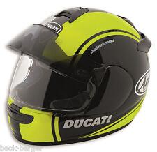 DUCATI Arai Chaser V hv-1 Pro Casco Helmet Nero Neon Giallo Opaco 2016 NUOVO!!!