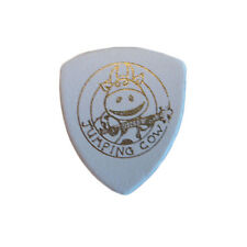 Leather Pick - Plectrum for Ukulele & Banjo - Jumping Cow - Warm Sound - White