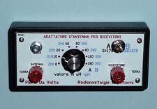 Adattatore di antenna per radio a Cristallo, ricevitori onde medie e corte ,