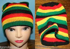 Para Hombre y Mujer Unisex Rasta Jamaicano Sombrero de Punto Gorra de Moda Hip-Hop Beanie Sombreros
