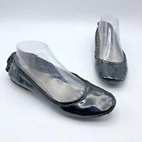 AK Anne Klein Seana Women Black Ballet Flat Shoe Size 7.5M Pre Owned