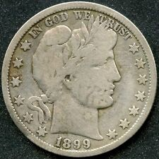 1899-O (VG) 50C SILVER BARBER HALF DOLLAR