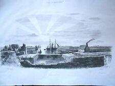 GRAVURE sur ACIER 1837 signée GARNERAY: GRAVELINES