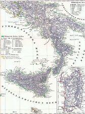 Vera 175 anni vecchia CARTINA ITALIA con il Regno di entrambi i Sicilien 1842