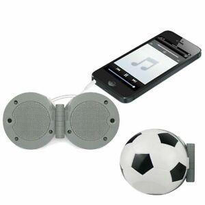 Vibe Sound Folding Sports Fan Stereo Speaker Soccer Ball