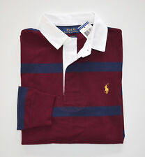 NWT Men's Ralph Lauren Rugby Long-Sleeve Polo Shirt, Red, Blue XXL, 2XL