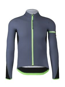 Q36.5 Men's Hybrid Que Long Sleeve Cycling Jersey Medium Platinum MSRP $269