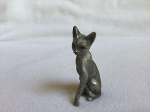 Vintage Pewter Cat Figurine