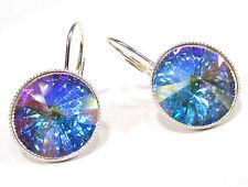 SoHo® Ohrhänger Ohrringe 14mm Kristalle rivoli silber crystal ab aurore boreale