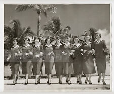 Group of hostesses of the Pan American in Miami - Photo vintage 1951