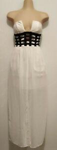 LY FASHION White mesh detailed dress. Size 6